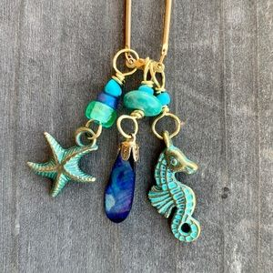 Brass By the Sea Necklace
